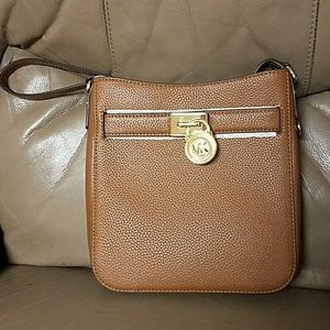 NWT Michael Kors Leather Hamilton Crossbody